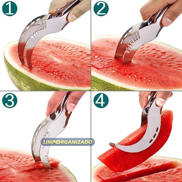 Fatiador de melancia aço inox  - Limpo e Organizado