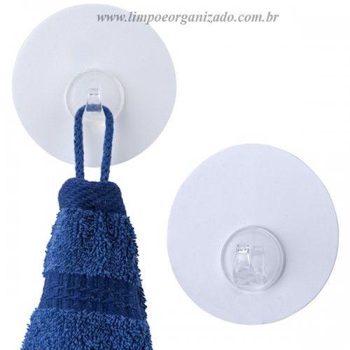 Gancho Removível - Nano-aderente - Estampa Branca  - Limpo e Organizado