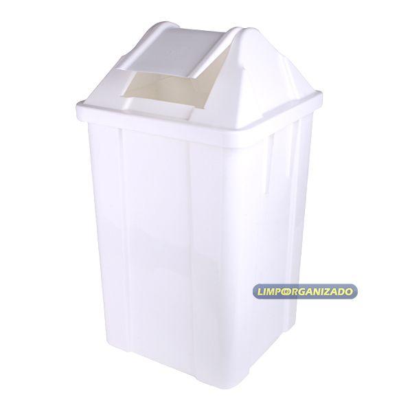 Lixeira 100 litros com tampa vai e vem   - Limpo e Organizado