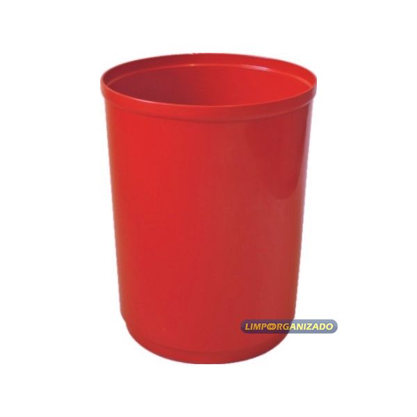 Lixeira 13 litros cônica sem tampa  - Limpo e Organizado