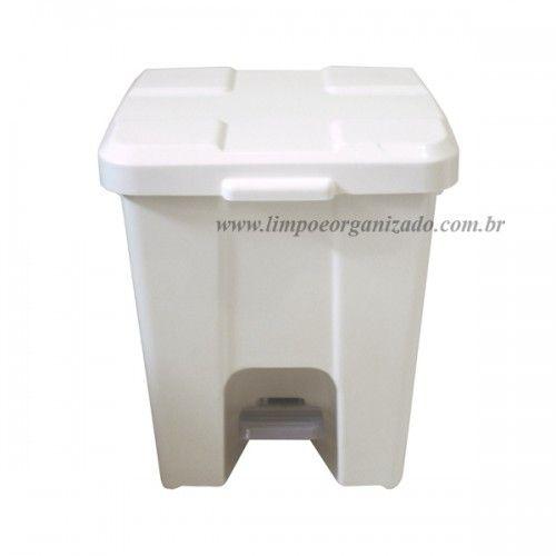 Lixeira 15 litros Quadrada com Pedal  - Limpo e Organizado