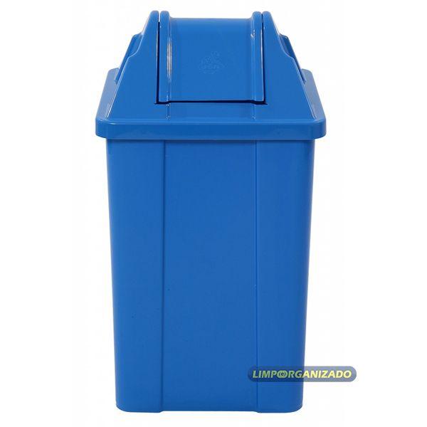 Lixeira 25 litros com tampa vai e vem   - Limpo e Organizado