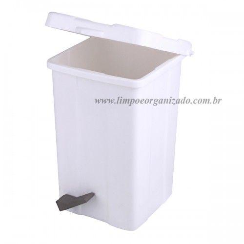 Lixeira 25 litros Quadrada com Pedal  - Limpo e Organizado