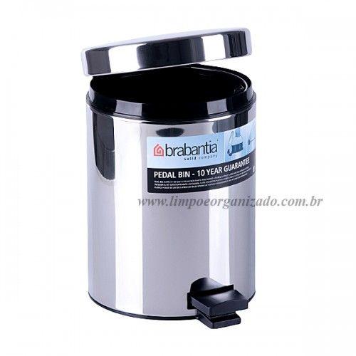 Lixeira 5 litros Aço Inox  - Brabantia  - Limpo e Organizado