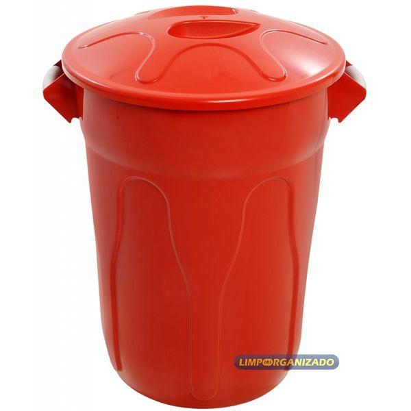 Lixeira 60 litros com Tampa manual  - Limpo e Organizado