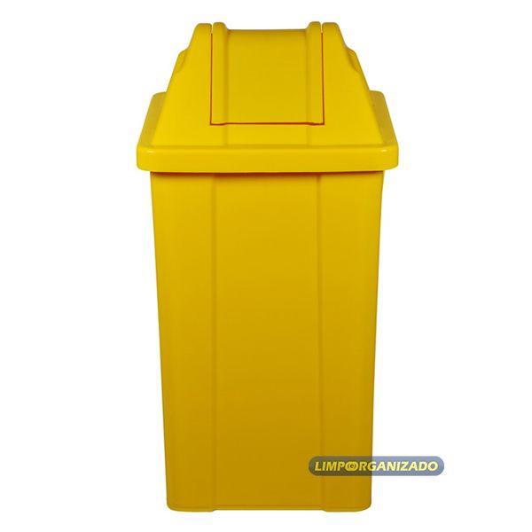 Lixeira 60 litros com tampa vai e vem   - Limpo e Organizado