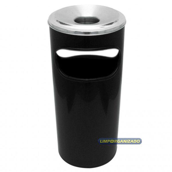 Lixeira cinzeiro abertura frontal - Plástico  - Limpo e Organizado