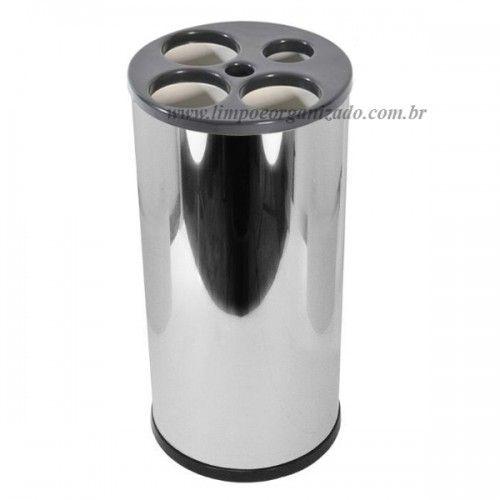 Lixeira Tubular Inox 24x50 para Copos de  água e Café  - Limpo e Organizado