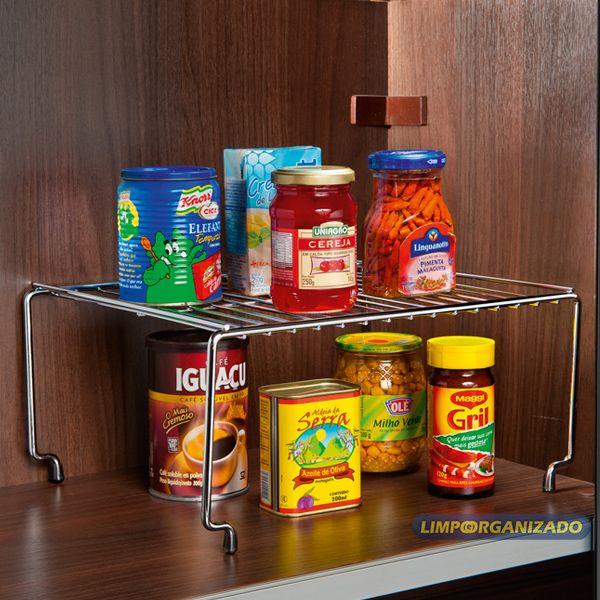 Organizador Retangular Cozinha Quarto Componível 24 cm Future  - Limpo e Organizado