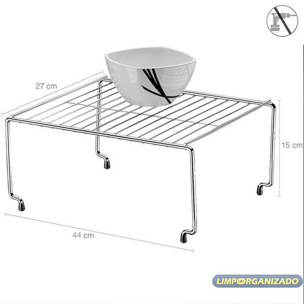 Organizador Retangular Cozinha Quarto Componível 44 cm Future  - Limpo e Organizado