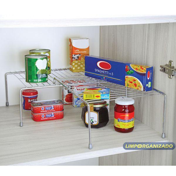 Organizador Retangular Cozinha extensível 67 cm Future  - Limpo e Organizado