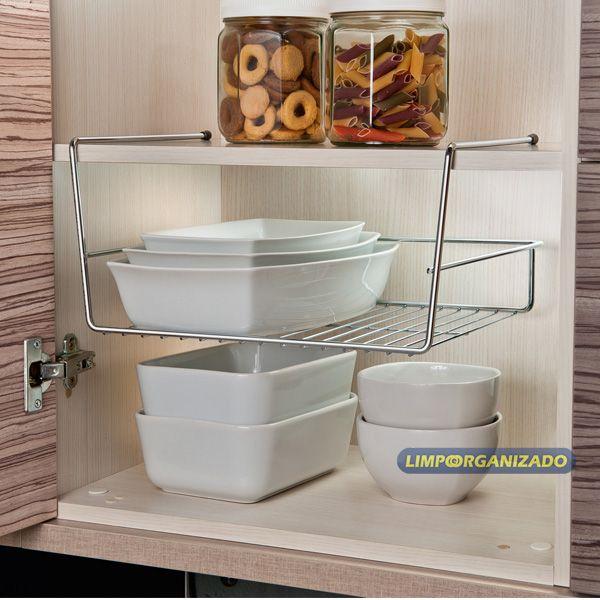 Organizador Suspenso para prateleira armário Future  - Limpo e Organizado