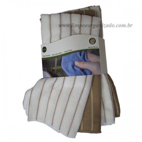 Pano Microfibra Toalha Kit com 4 und.  - Limpo e Organizado