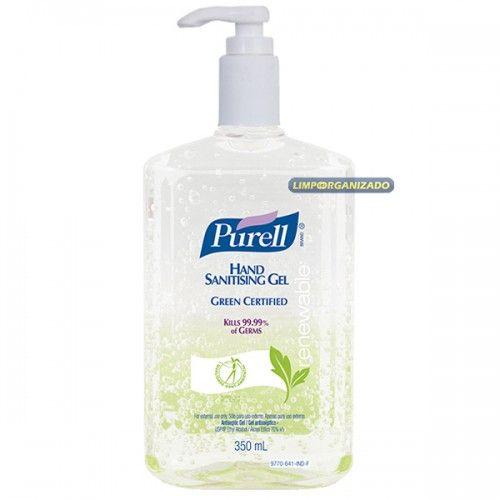 Purell Álcool gel antisséptico 70% para esterilizar as mãos 350ml  - Limpo e Organizado