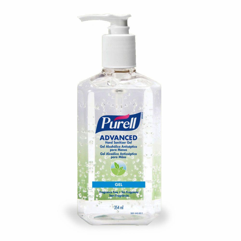 Purell Álcool gel antisséptico 70% para esterilizar as mãos 354 ml - Kit com 6 unidades.  - Limpo e Organizado