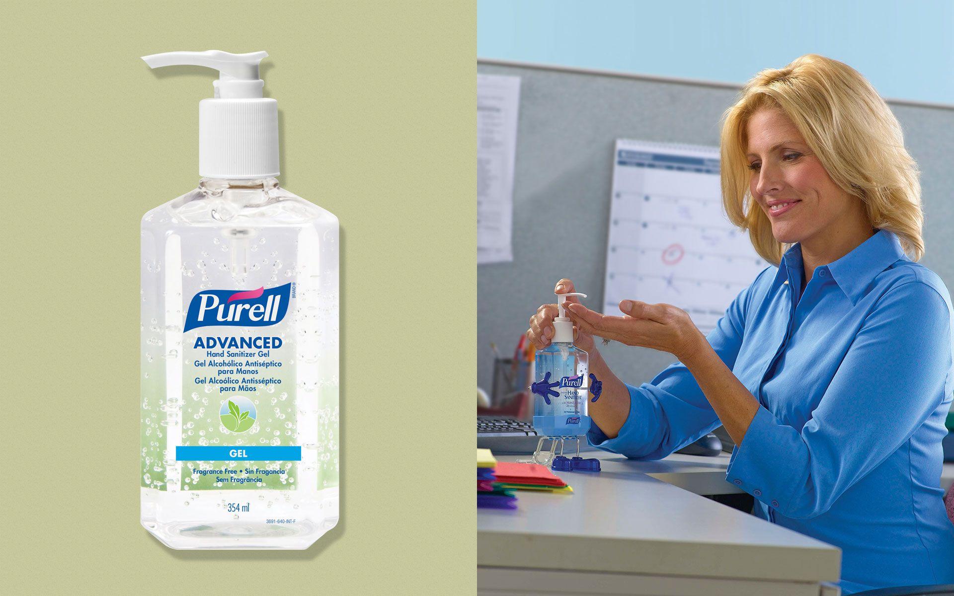 Purell Álcool gel antisséptico 70% para esterilizar as mãos 354 ml - Kit com 4 unidades.  - Limpo e Organizado