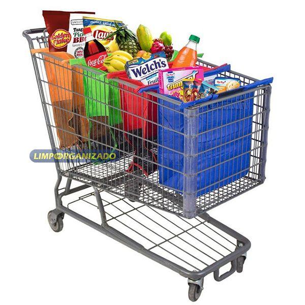 Sacola organizadora para carrinho de supermercado  - Limpo e Organizado