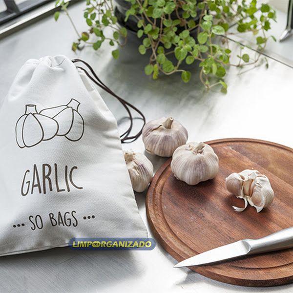 So Bags Garlic - Saco para conservação de alhos  - Limpo e Organizado