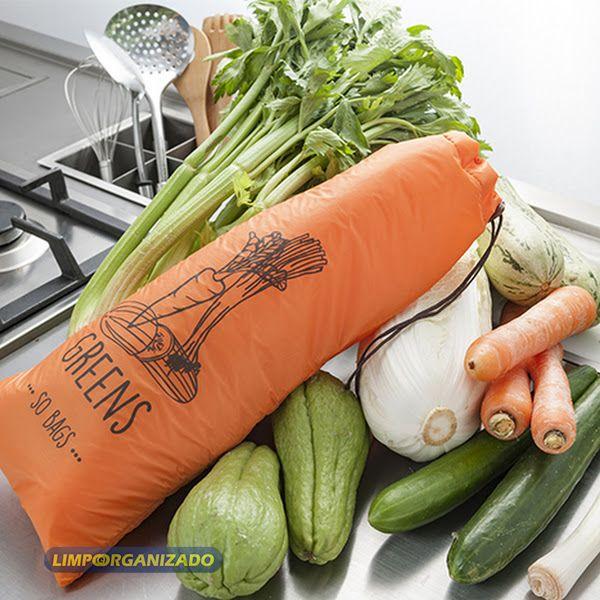 So Bags Greens - Saco para conservação de vegetais  - Limpo e Organizado