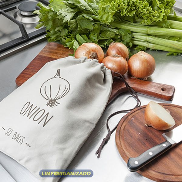 So Bags Onion - Saco para conservação de cebolas  - Limpo e Organizado