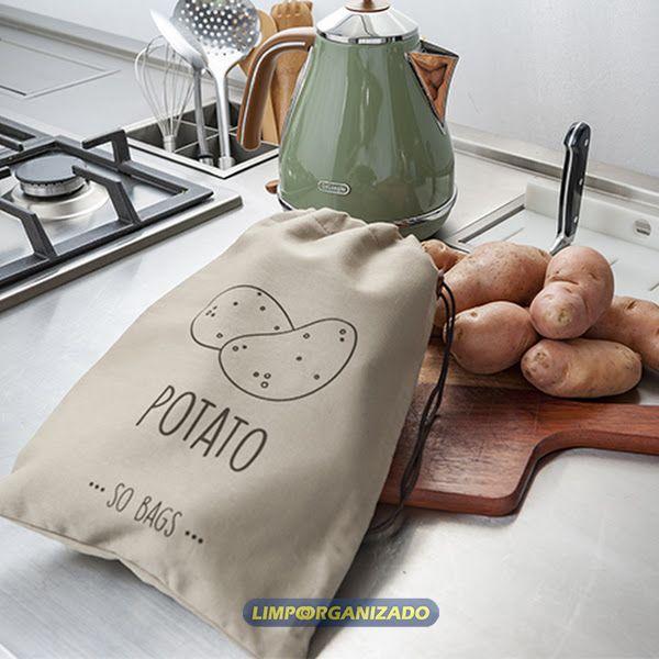 So Bags Potato - Saco para conservação de batatas  - Limpo e Organizado