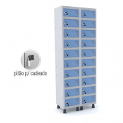 Armário Porta Objetos 20 Portas GRP-502/20 PO com Pitão para Cadeado