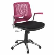 Cadeira Beezi Giratória com Braço Cromada
