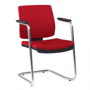 Cadeira Executiva Brizza Soft Fixa Contínua Cromada