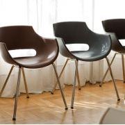 Cadeira Frida Fixa Base Cromada