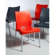 Cadeira Malba Fixa Estrutura Cinza