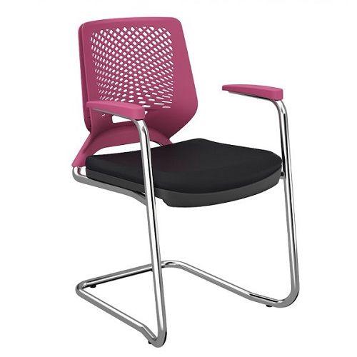 Cadeira Beezi Fixa S Contínua Cromada