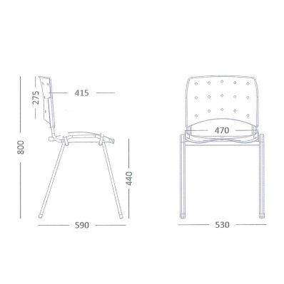 Cadeira Ergoplax Fixa com Assento Estofado