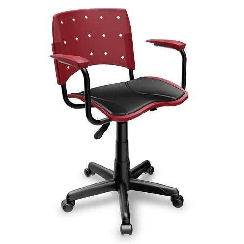 Cadeira Ergoplax Secretária Giratória com Assento Estofado