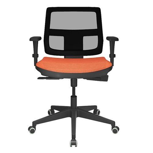 Cadeira Executiva Brizza Tela Giratória Base Nylon
