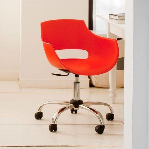 Cadeira Frida Giratória Cromada