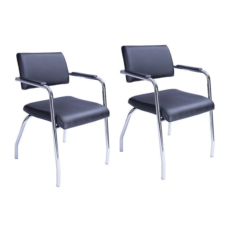 Cadeira Izzi Fixa 4 Pés Cromada - Kit com 2 unidades
