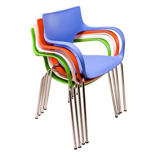 Cadeira Jim Fixa Base Cromada