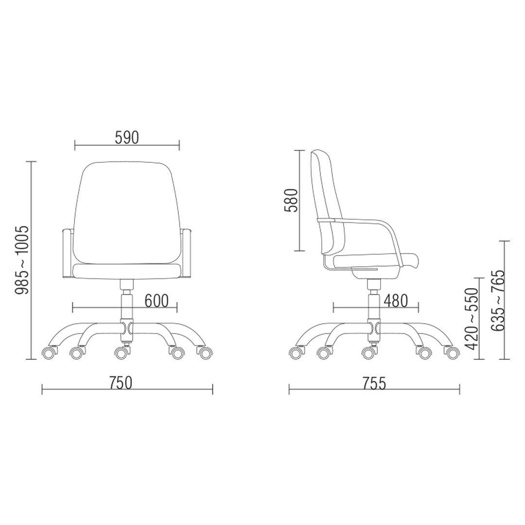 Cadeira Maxxer Giratória - Capacidade para 150kg