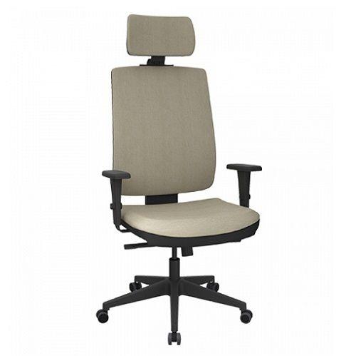 Cadeira Presidente Brizza Soft com Apoio de Cabeça Base Nylon