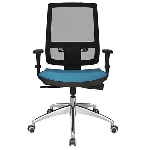 Cadeira Presidente Brizza Tela Base Alumínio