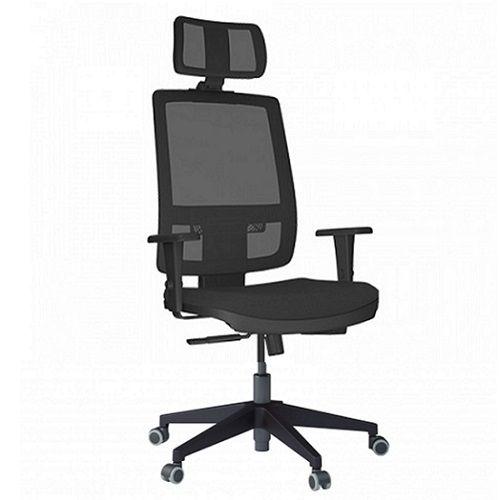 Cadeira Presidente Brizza Tela com Apoio de Cabeça Base Nylon