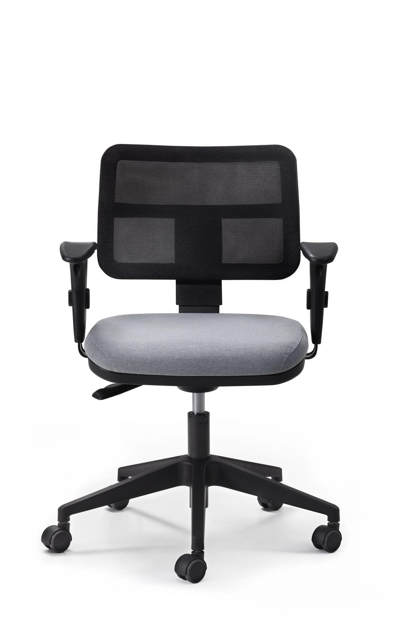 Cadeira Zip Tela Giratória Ergonômica Base Nylon