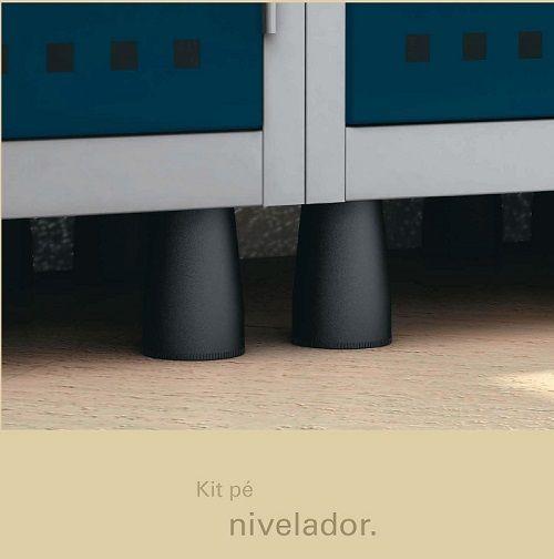 Roupeiro de Aço 4 Portas Grandes GRP-502/4 com Pitão para Cadeado