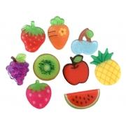 Aplique Kit Frutas Acrilico Sortido