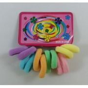 Elástico Colorido mini com 12 unidades