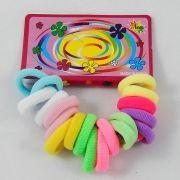 Elástico Mini para Cabelo - Colorido - 20 UN