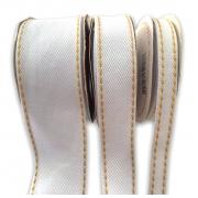 Fita Jeans Pespontada Sinimbu Branco 10mm/22mm/38mm - 10 metros