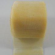 Manta de Meia Pérolas ABS Marfim - 3mm - 10cm x 1m