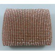 Manta Strass Termocolante Rosa Cristal - 10 x 40 cm