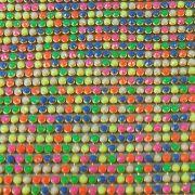 Micro Manta de Strass Termocolante Chiclete   10x45 cm
